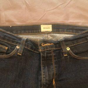 Hudson skinny leg dark denim jeans